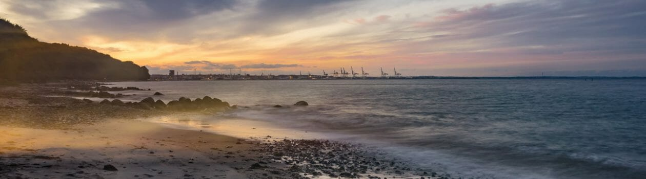Landschaftsfotos, Strand dänsiche Küste, Sonnenuntergang, FineArt-Print, Landschaftsfotografie, Fotokunst für die Wand