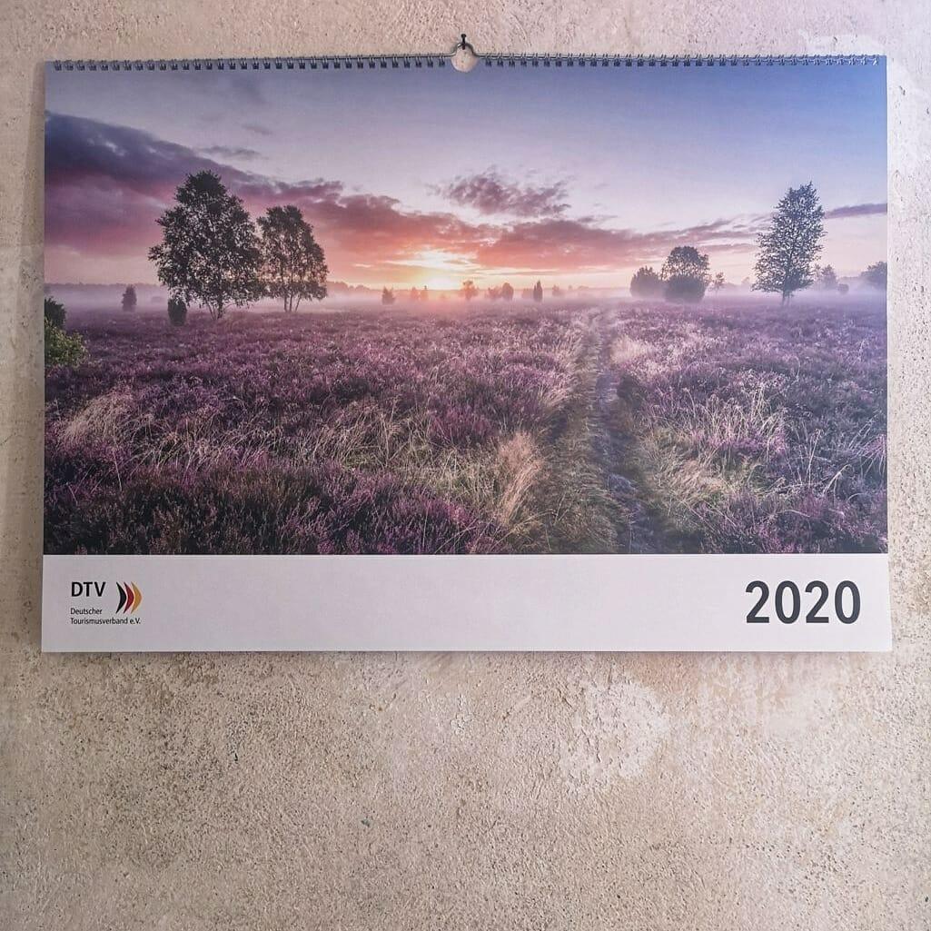 Tourismus Fotografie, Deutscher Tourismusverband, DTV Bundestagskalender 2020, Titelbild, Deutschland